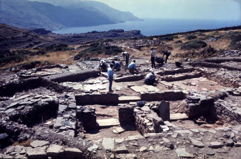 J area houses at Zagora during excavation 1971