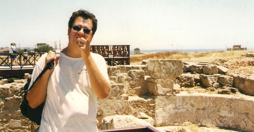 Craig Barker at the excavation in Paphos, Cyprus