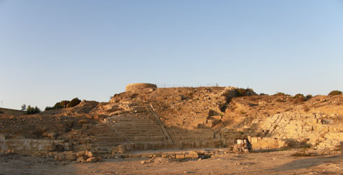 A view of the excavation at Paphos, Cyprus