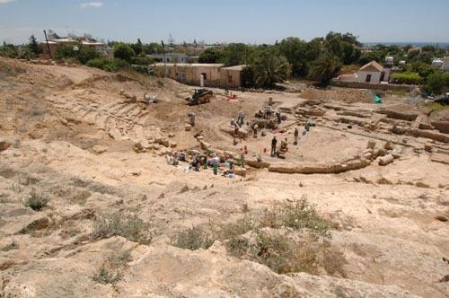 A view of the excavation at Paphos, Cyprus, 2006