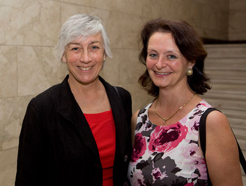 Professor Margaret Miller and Professor Lesley Beaumont at a conference about Zagora in Athens in May 2012