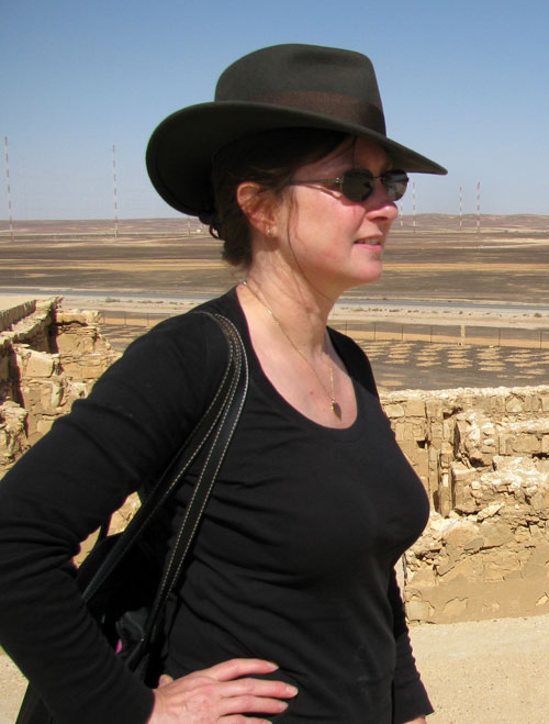 Wendy Reade - AKA Wendiana Jones - in the desert in Jordan in 2011