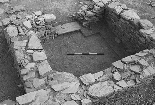 Archaeological photographs include a scale