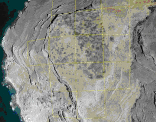 Excavation grid laid over the site of Zagora