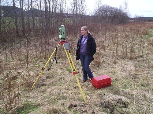 Total station electronic surveying instrument