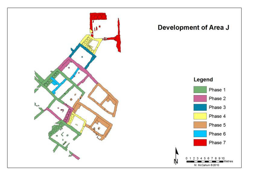 Phasing of house development in Area J