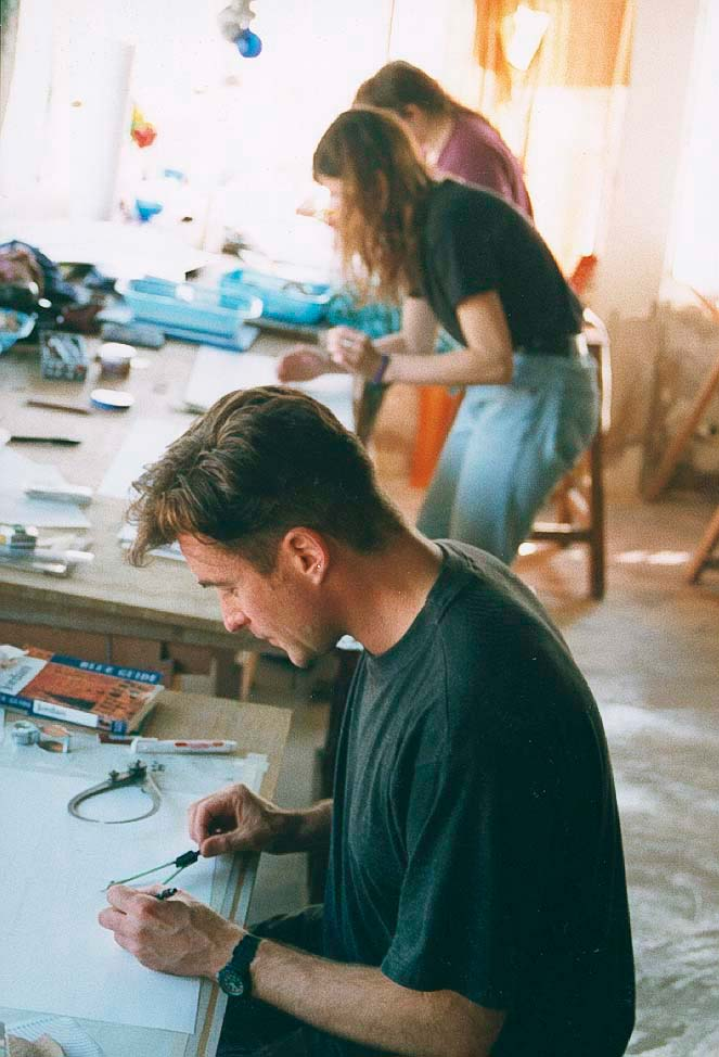 Paul drawing at Pella in Jordan, around 1990