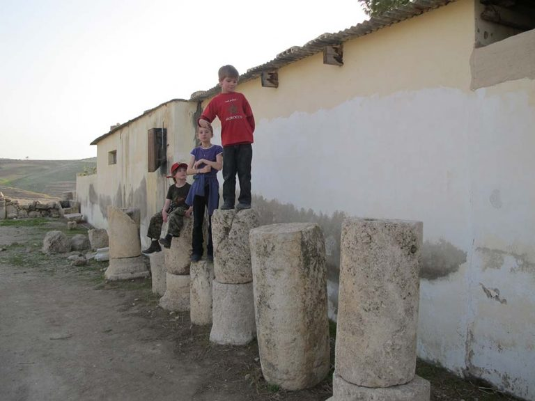 Ancient columns as a playground