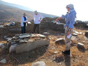 Meg Miller, Rudy Alagich and Kristin Mann at the temple site