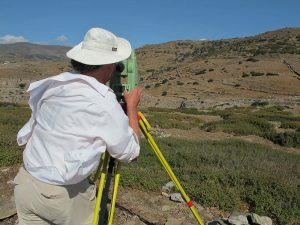 Richard Anderson surveying at Zagora