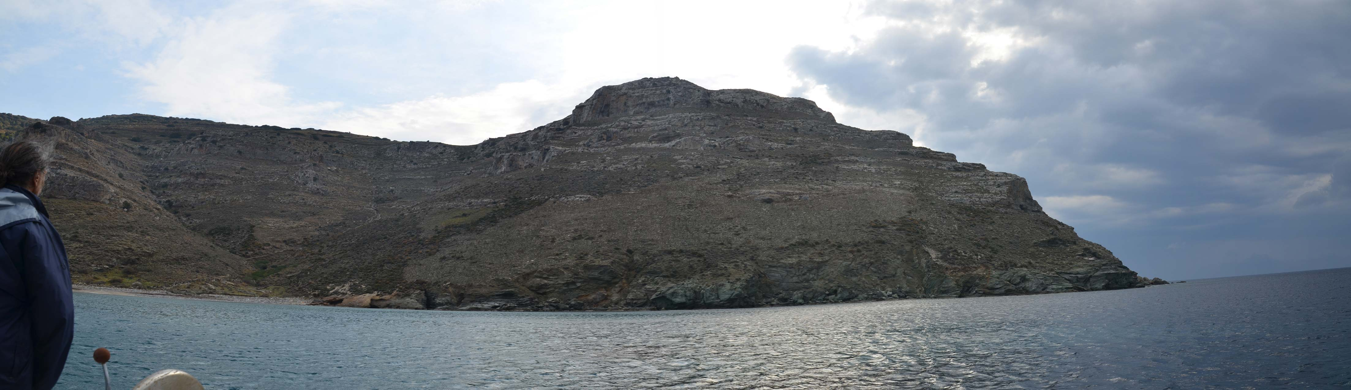 Panorama of the north face of Zagora