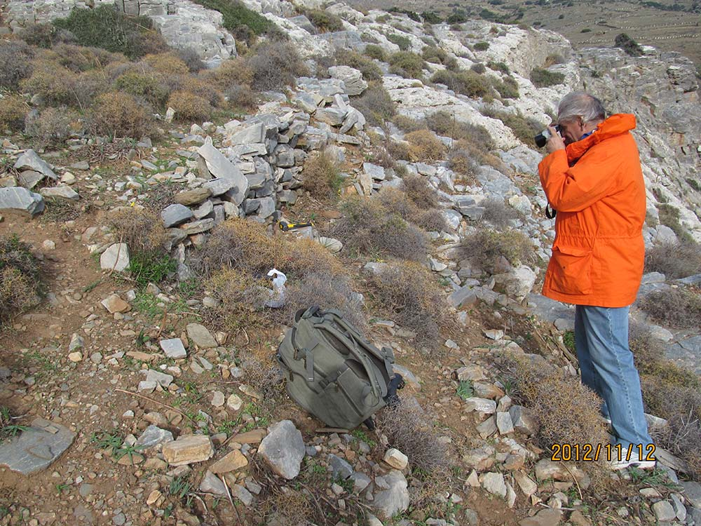 Ioannis Liritzis photographing the site of his measurements