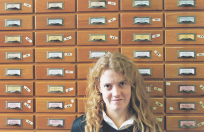 In the old Archaeology Slide library of Sydney University in the late 1990s