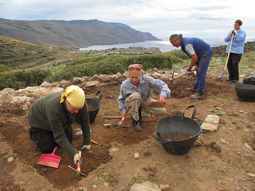 Excavations in test trench 1