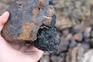 Iron ore in a rock from Agios Petros