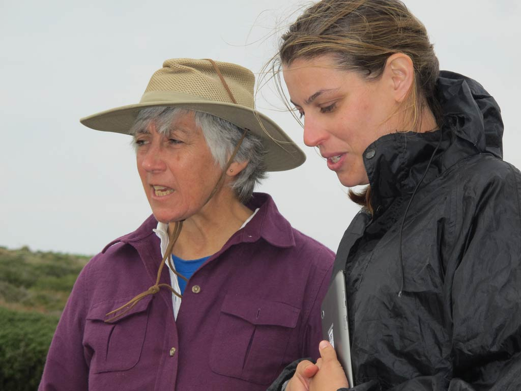 From left: Meg Miller and Ivana Vetta considering a trench at Zagora