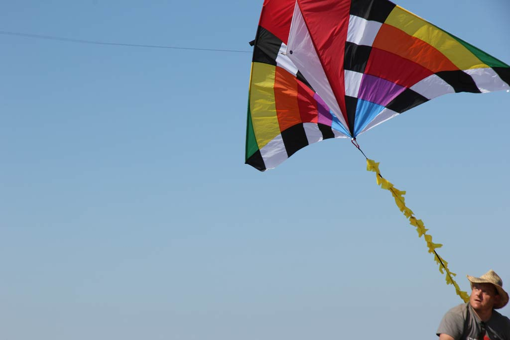 The kite is launched