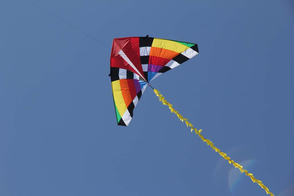 The kite is airborne