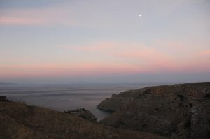 Big Moon over the Aegean on the walk to Zagora on Monday 21 October 2013