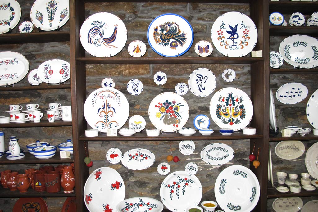 A display of Melita ceramics