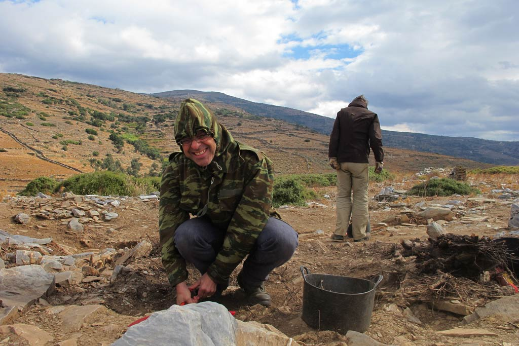 Stavros Paspalas working in Excavation Area 2 in 2013