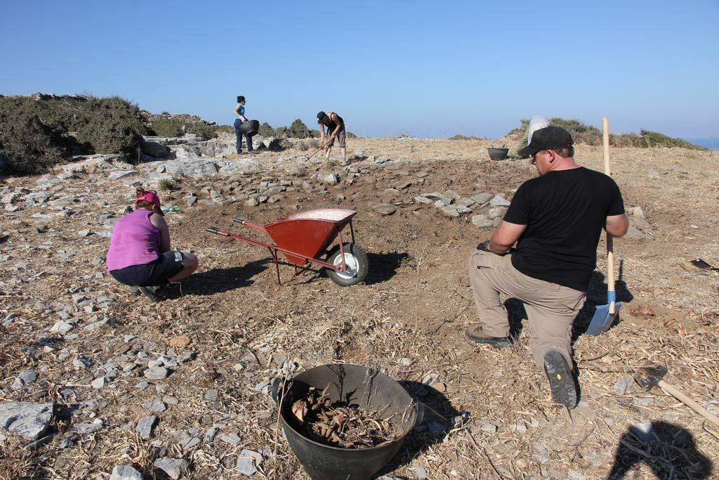 Preliminary clearing work taking place at Excavation Area 1 (supervised by Ivana Vetta)