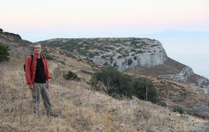 Dr Paul Donnelly, pictured here with Zagora behind