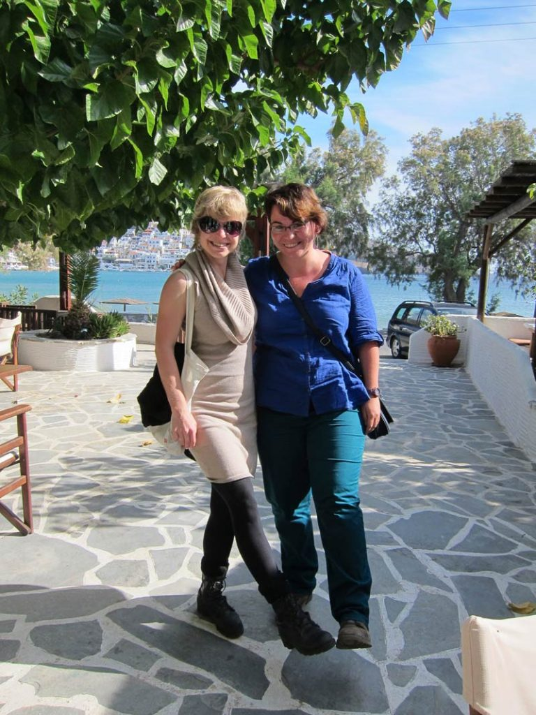 Adela and Petra ready to depart for their next archaeological expedition in Bulgaria