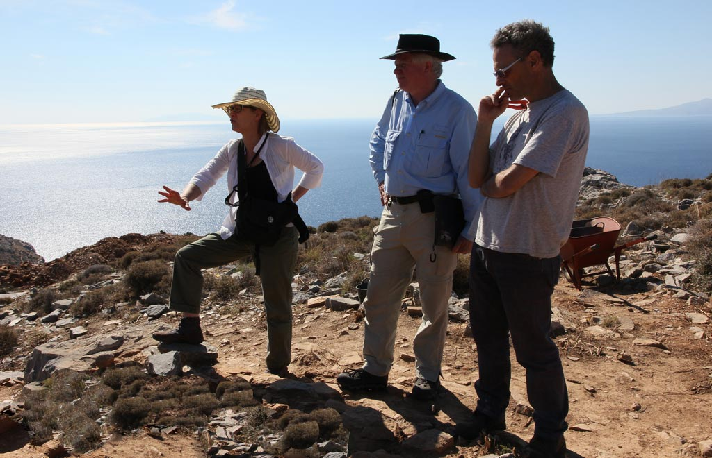 Beatrice with, from left, Andrew Wilson and Stavros Paspalas at Zagora.