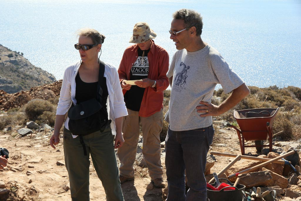Beatrice with, from left, Paul Donnelly and Stavros Paspalas at Zagora