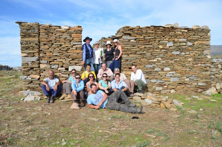 Some 2012 Zagora team members outside the dig hut