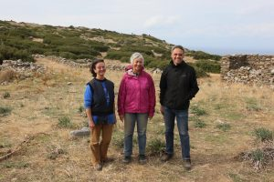 Associate Professor Lesley Beaumont, Professor Meg Miller and Dr Stavros Paspalas at Zagora