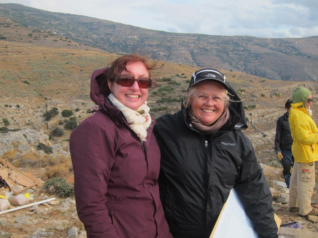 Wendy Reade and Anne Hooton at Zagora in October 2014