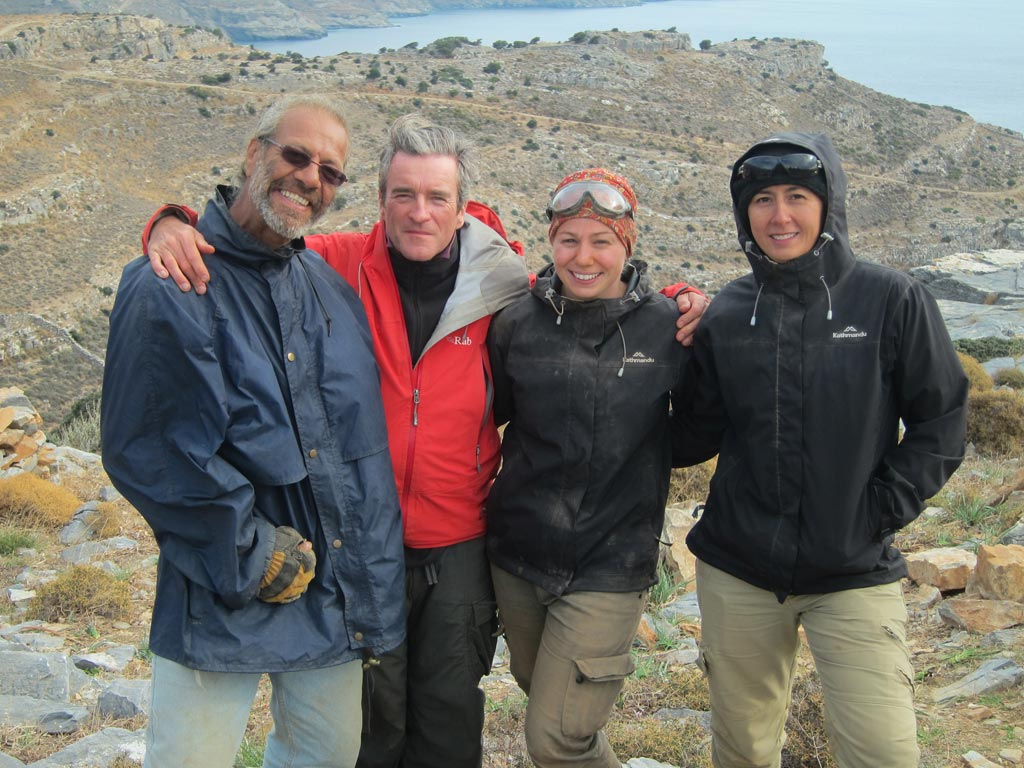 Trench supervisor, Paul Donnelly, with his team, from left: Steve Vasilakis, Paul Donnelly, Julia McLachlan and Cheryl Brown
