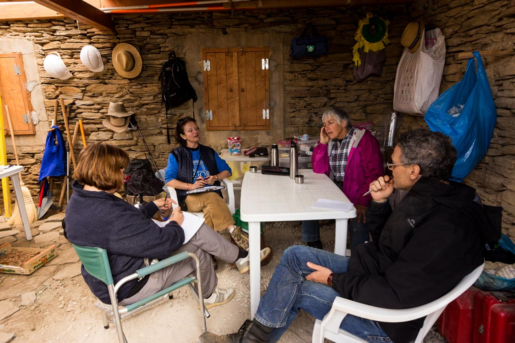 Interviewing the ZAP directors in the Zagora dig hut,