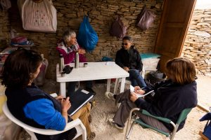 Interviewing the ZAP directors in the Zagora dig hut
