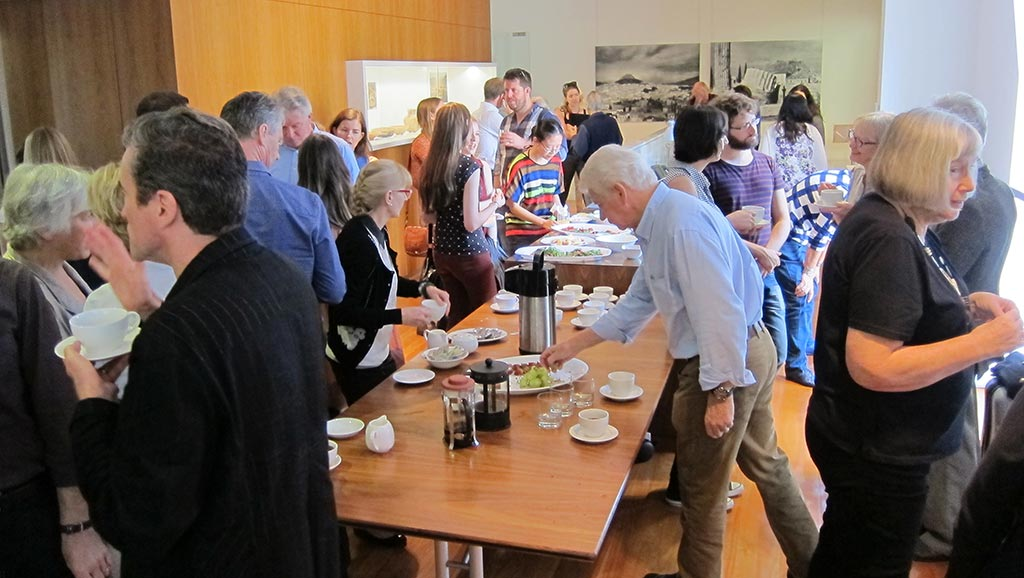 The mid-morning break at the Zagora Study Day at the Centre for Classical and Near Eastern Studies of Australia (CCANESA)