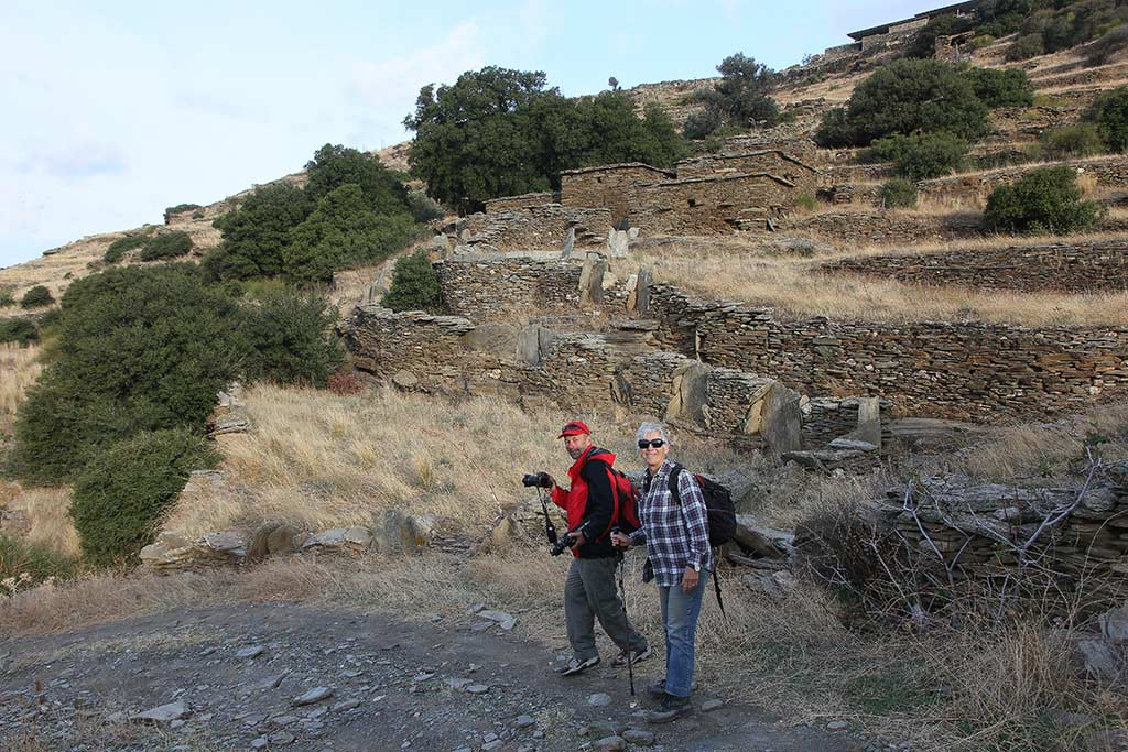 Bob Miller and Meg Miller on the path to Zagora in 2014