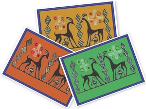 Zagora colouring in and storytelling images